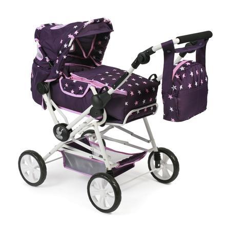 BAYER CHIC 2000 Poussette combinée pour poupée ROAD STAR Stars violet