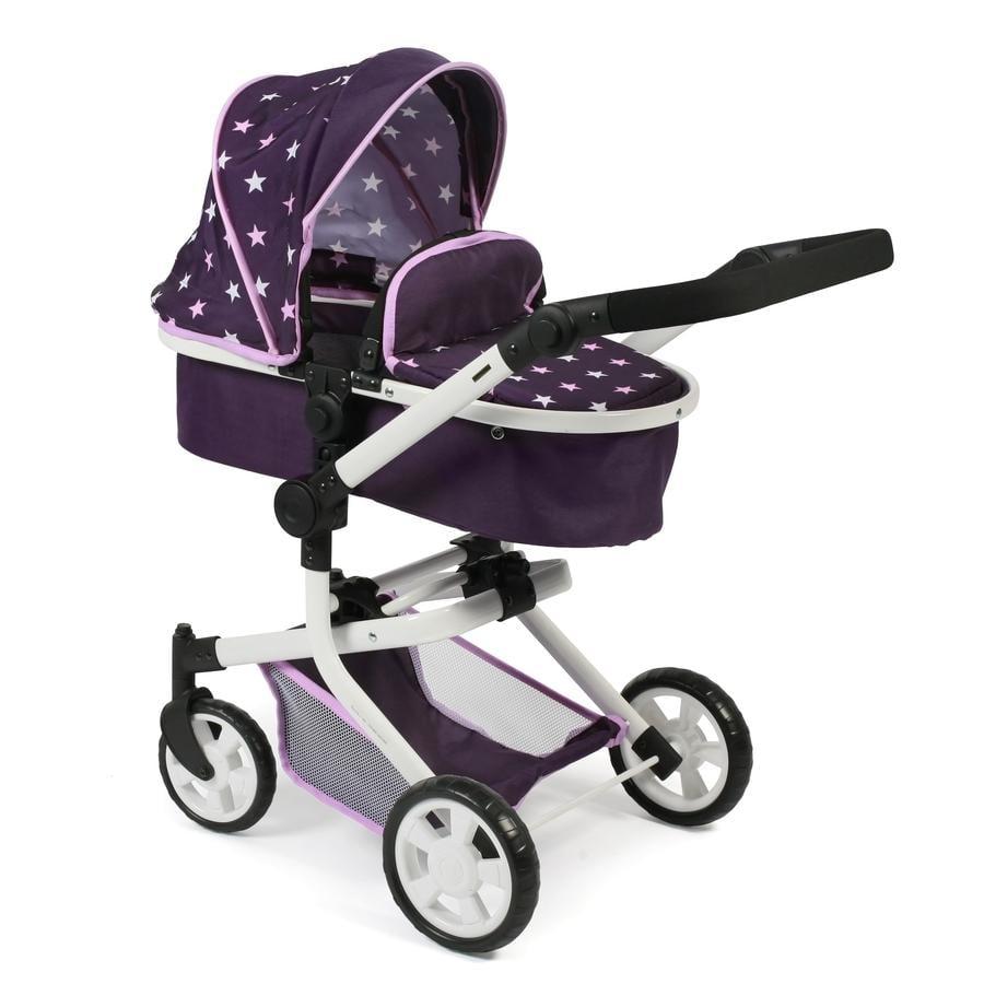 BAYER CHIC 2000 Combi Doll carriage MIKA Stars purpura