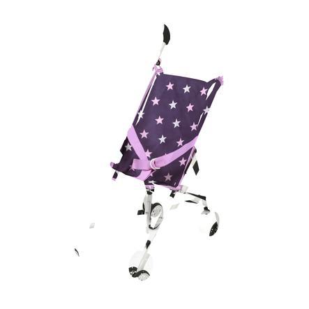 BAYER CHIC 2000 Mini Wózek spacerowy dla lalek ROMA Stars lila