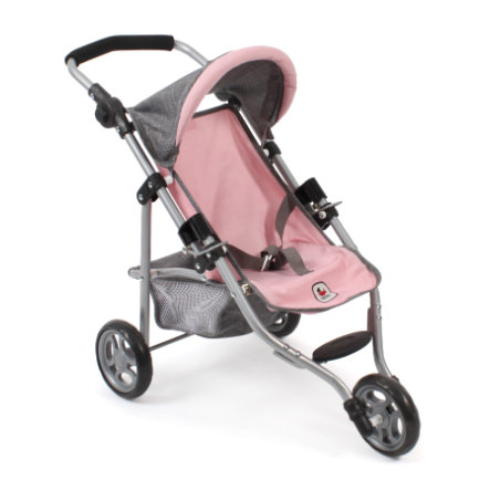 BAYER CHIC 2000 Wózek sportowy dla lalek LOLA Melange grey-rose