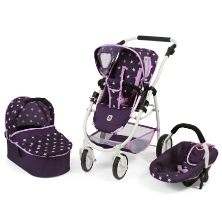 BAYER CHIC 2000 Combi Poppenwagen 3 in 1 EMOTION ALL IN Stars lila
