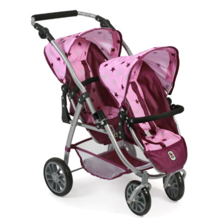 BAYER CHIC 2000 Tandem - Buggy VARIO Stars Blackberry