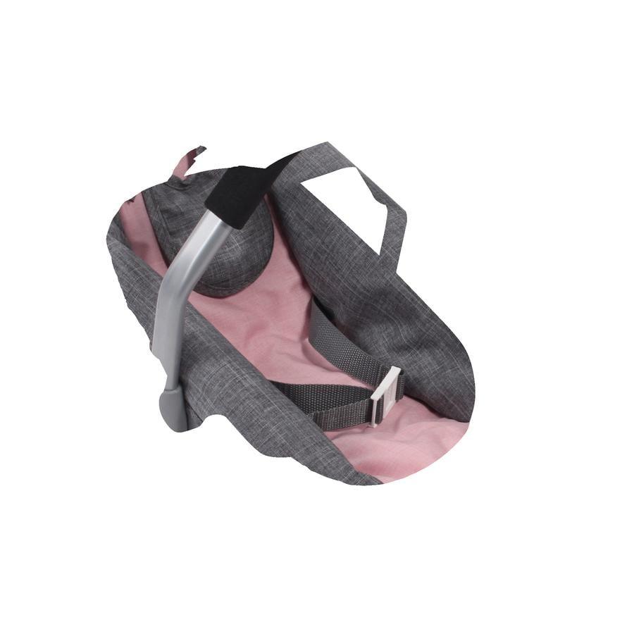 BAYER CHIC 2000 Puppen-Autositz Melange grau-rosa