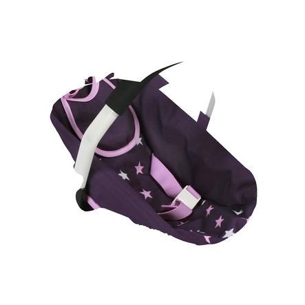 BAYER CHIC 2000 Siège auto pour poupée Stars violet