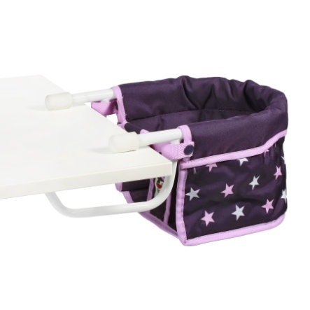 BAYER CHIC 2000 Siège de table poupée Stars violet