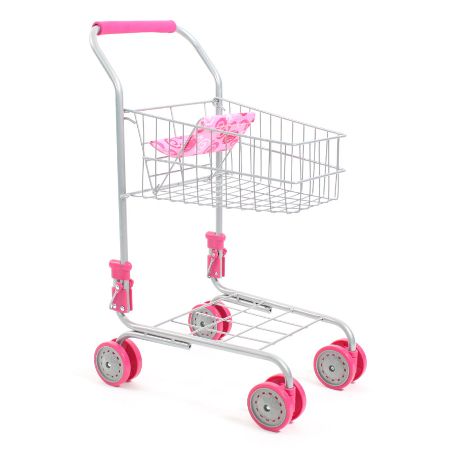BAYER CHIC 2000 Carrito supermercado de juguete rosa