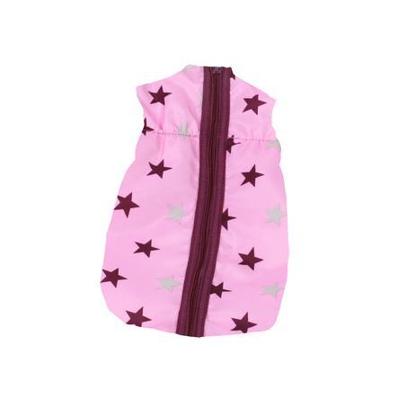 BAYER CHIC 2000 Puppen-Schlafsack Stars Brombeere rosa