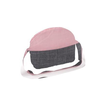 Bayer Chic 2000 Puppen-Autositz Kindersitz Melange grau-rosa TOP