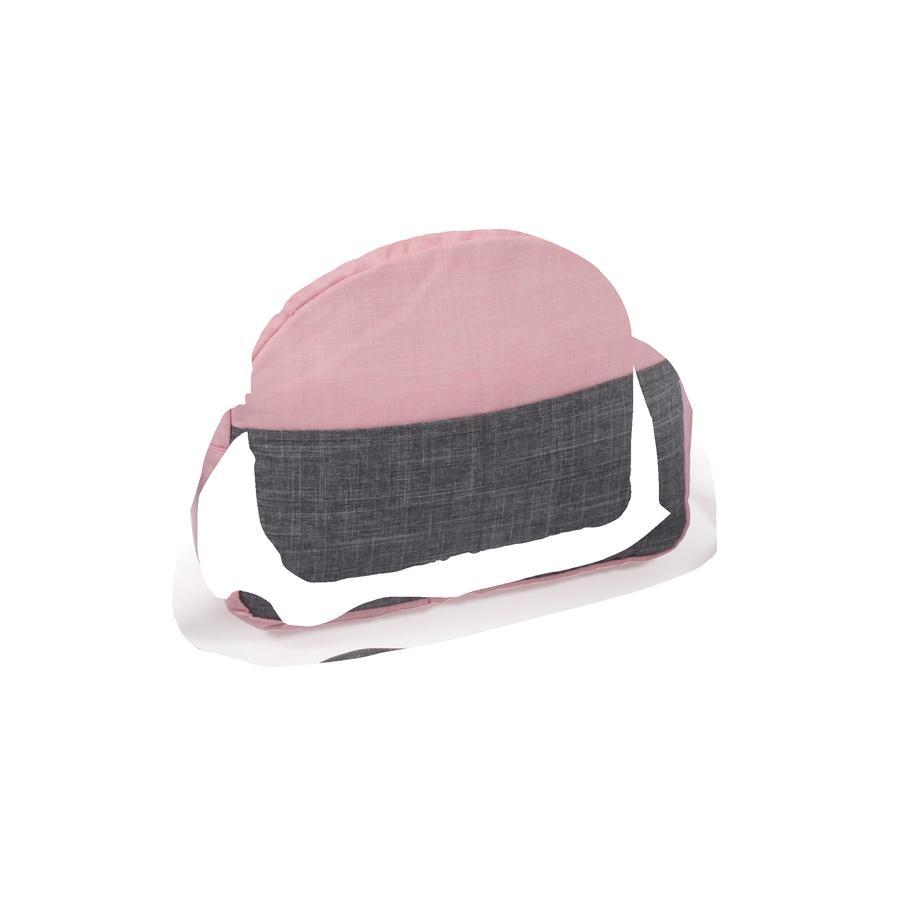 BAYER CHIC 2000 Stelleveske til dukke, Melange grå-rosa