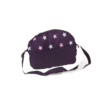BAYER CHIC 2000 Přebalovací taška pro panenky Hvězdičky, fialová