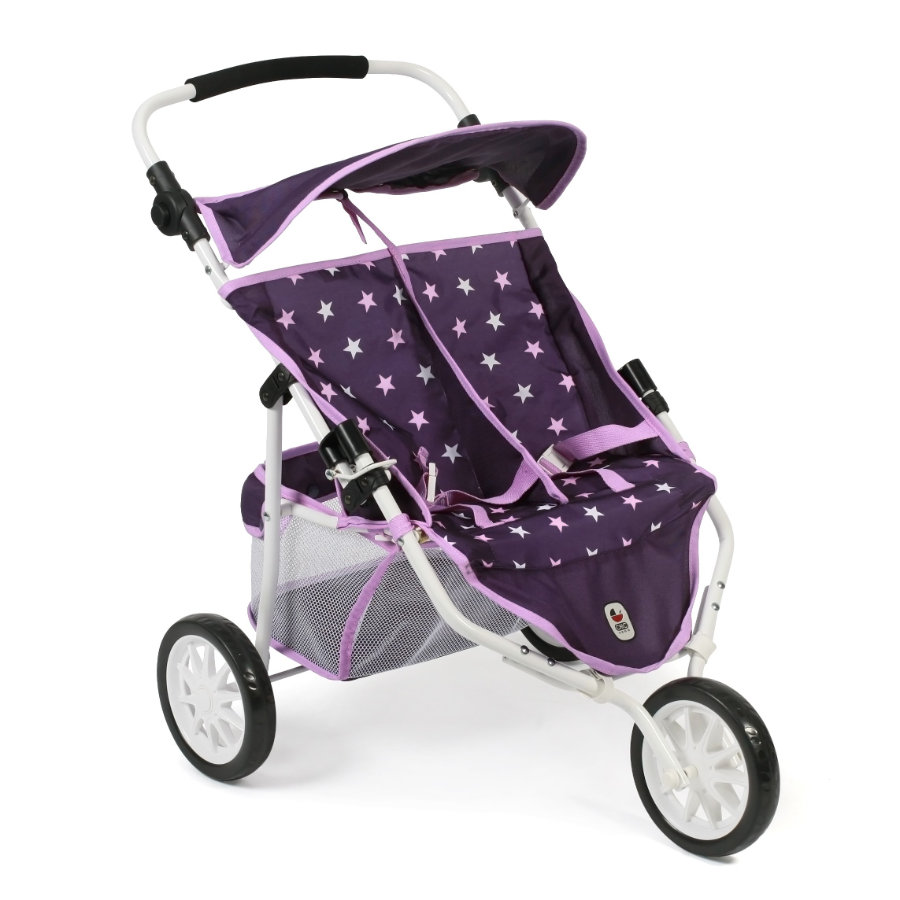 BAYER CHIC 2000 Zwillings-Jogger Stars lila