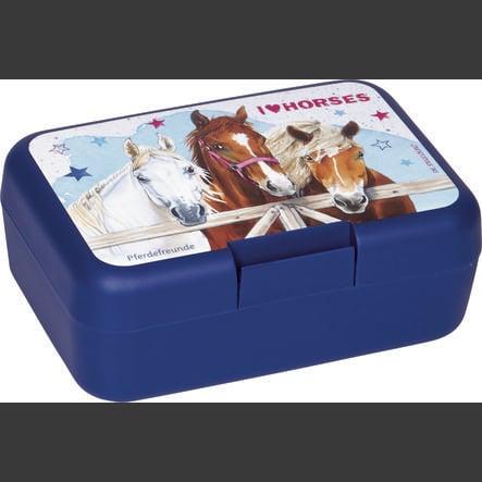 COPPENRATH Scatola di burro cavallo amici cavallo blu