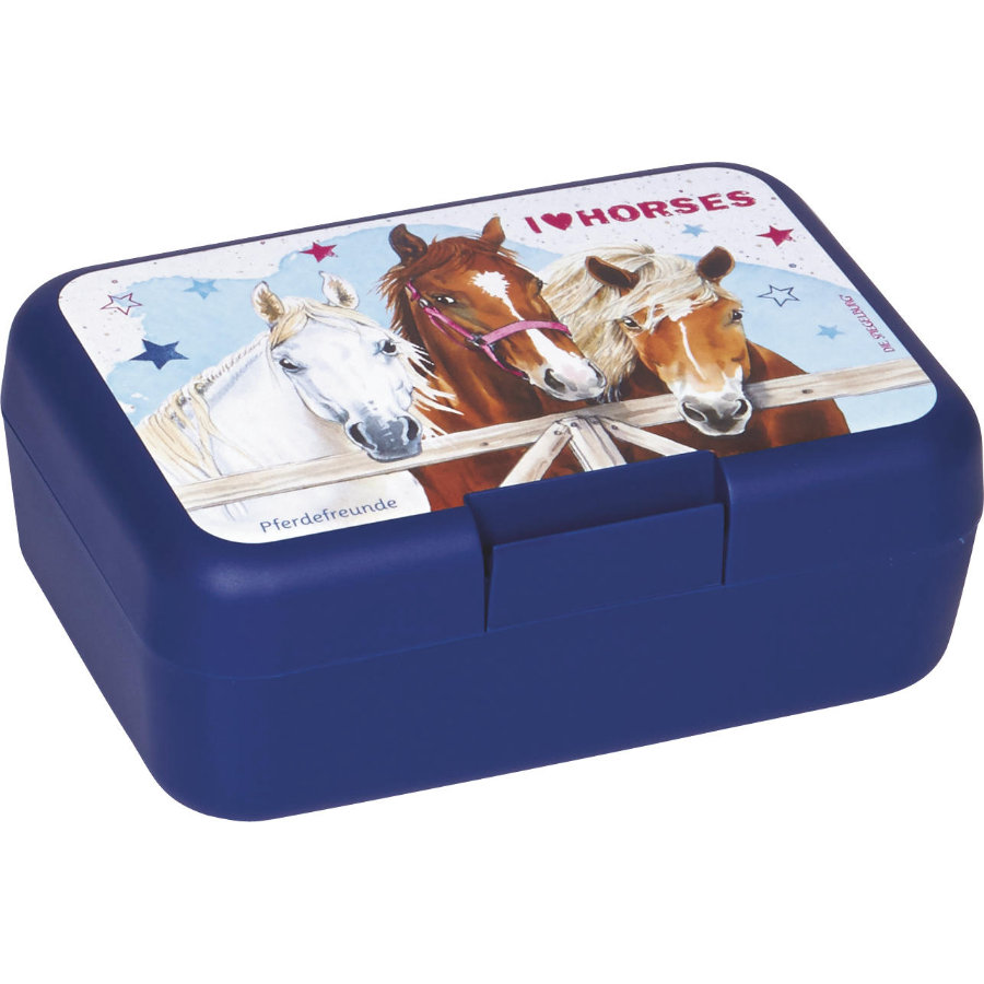 COPPENRATH Boîte à beurre cheval amis bleu