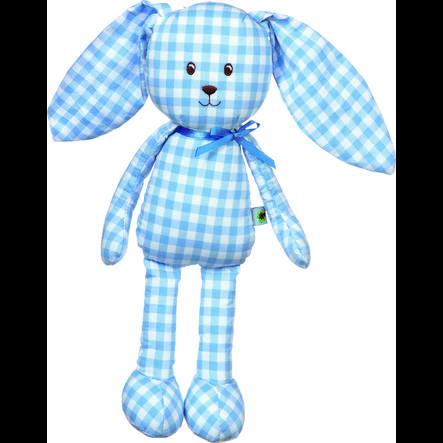 COPPENRATH pluche speelgoed konijntje Baby geluk vichy lichtblauw