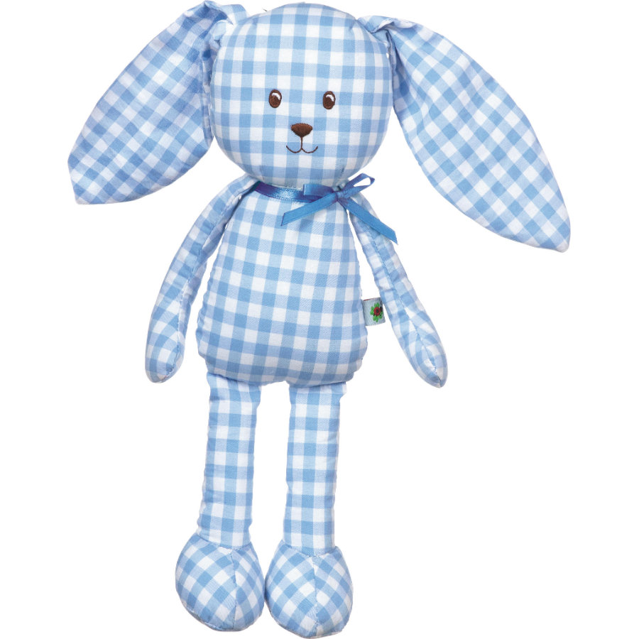 COPPENRATH jouet peluche lapin Baby porte-bonheur vichy bleu clair