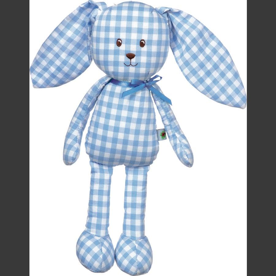 COPPENRATH plyšová hračka houpačka králík dítě štěstí vichy světle modrá
