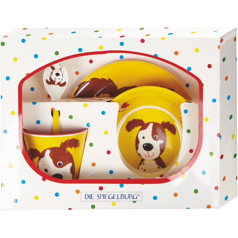 COPPENRATH Coffret Cadeau Mélamine Chien Cheeky Gang of Rales