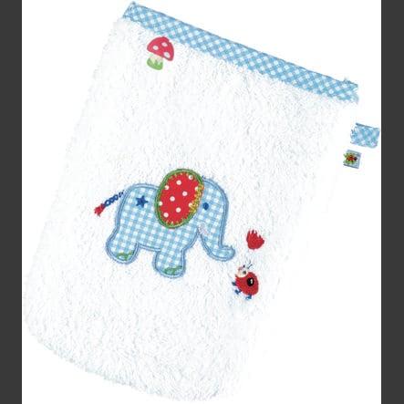 COPPENRATH Tvättlapp Elefant Babylycka - ljusblå