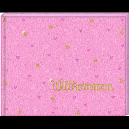 Coppenrath vauva-albumi Wilkommen vaaleanpunainen