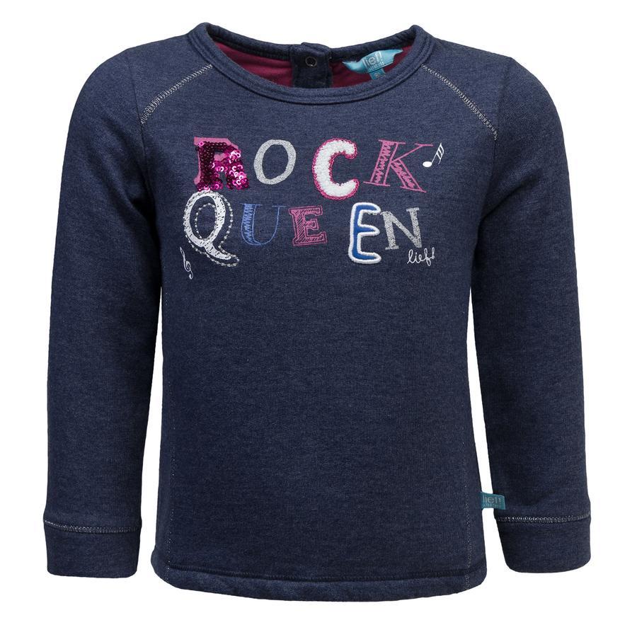 Rennen! Girl Het Sweatshirt is blauw.