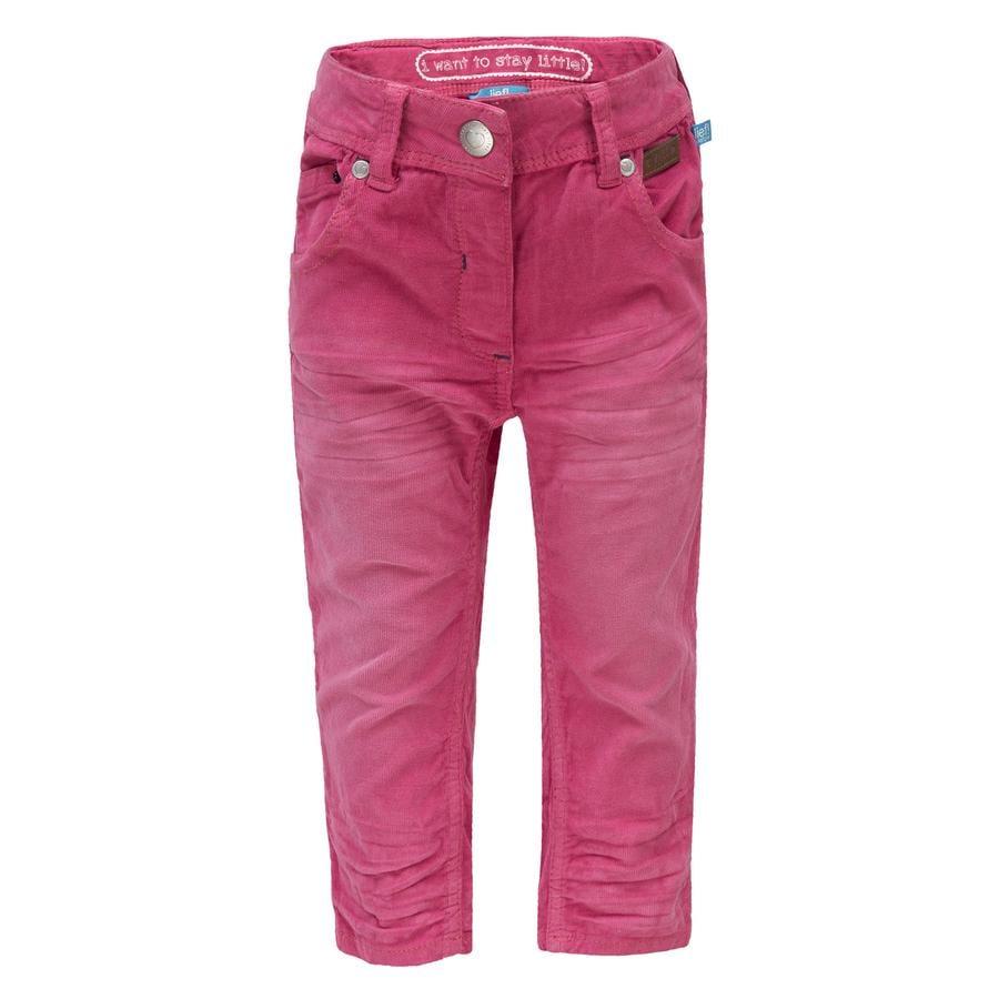 uciekła! Girl Sztruksowe spodnie, różowe