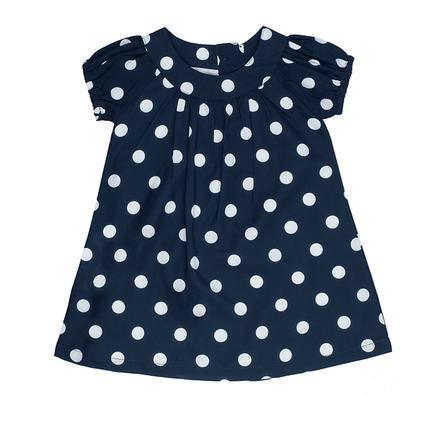 Feetje Girl s robe uni points bleu marine