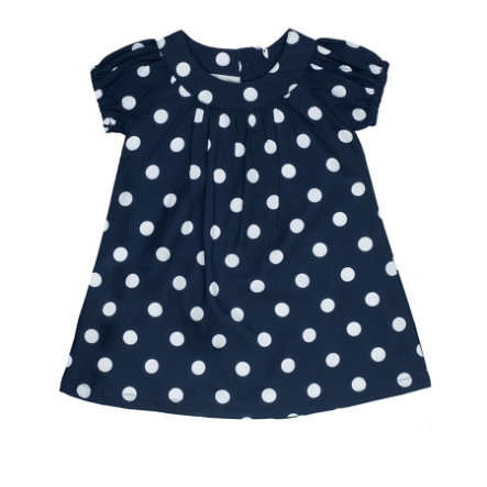 Feetje Girl s robe uni points bleu marine