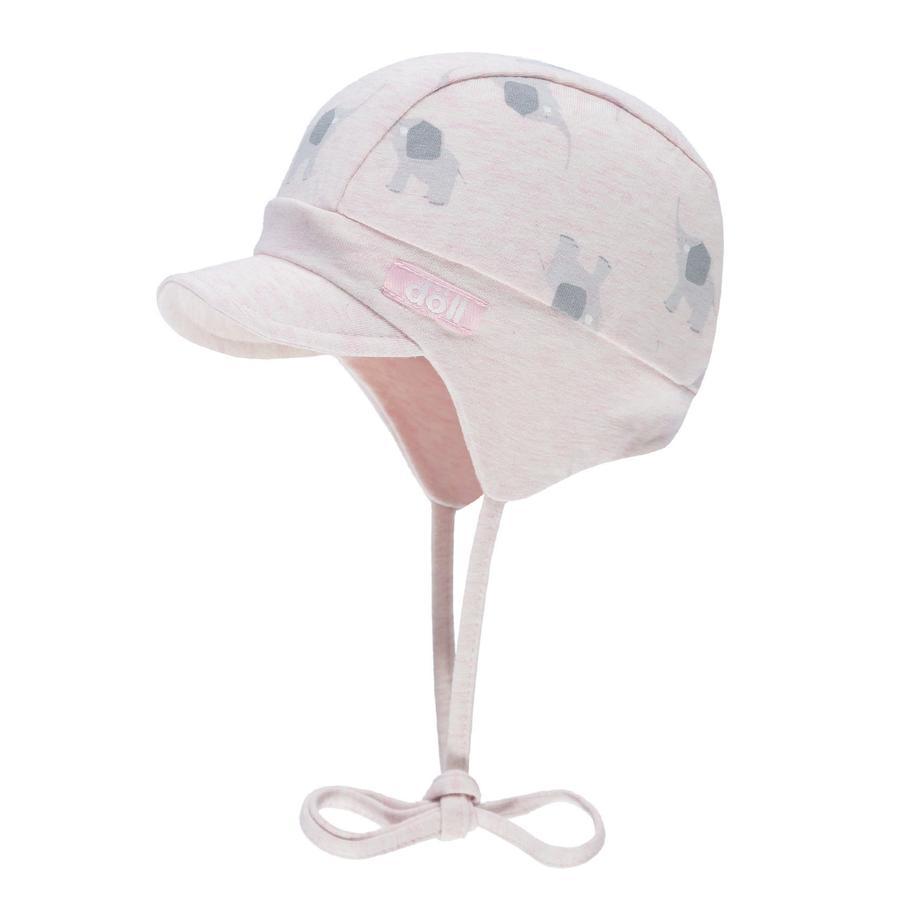 Döll Girls Knytelue med paraply, rosa med elefanter