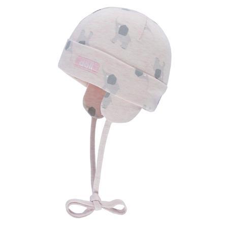 Döll Girls Bindemütze Jersey, rosa mit Elefant
