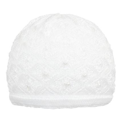 Döll Girl s Bâton de chapeau de pot, blanc vif