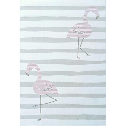 LIVONE Spiel- und Kinderteppich Kids Love Rugs - Flamingo creme/rosa 120 x 170 cm