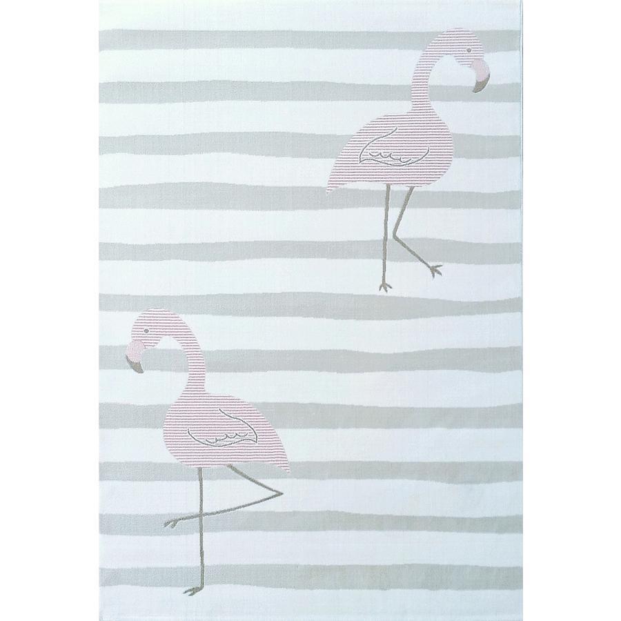 LIVONE Tapijt  Kids Love Rugs Flamingo creme/roze 120 x 170 cm