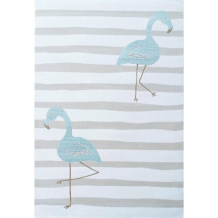 LIVONE Tapijt Kids Love Rugs Flamingo creme/mint 160 x 220 cm