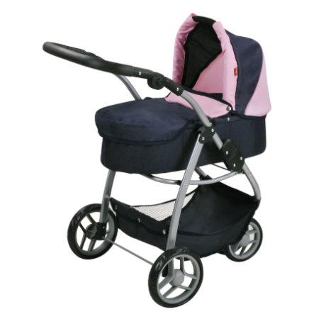 knorr® toys Puppenwagen Cico - blue pink