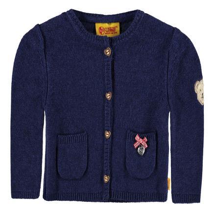 Steiff Girls Pletený svetr, twilight blue