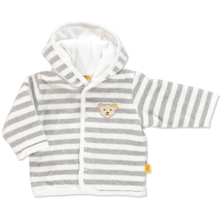 STEIFF Baby Velour Jacket Stripes softgrey