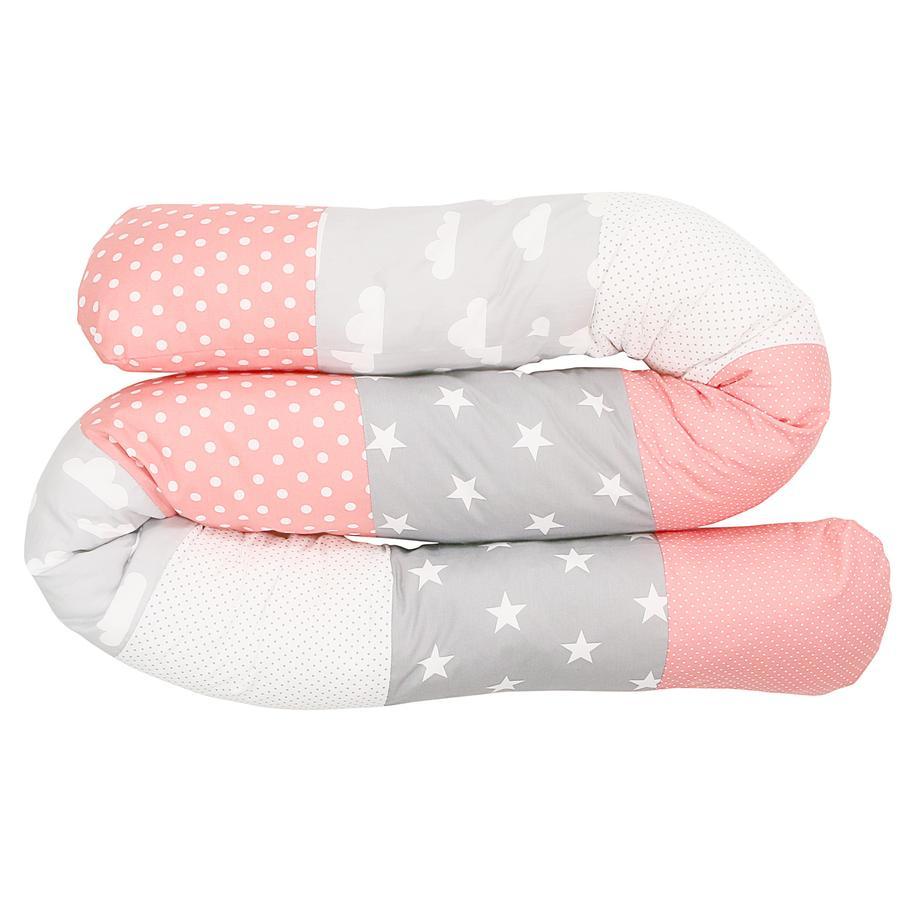 Ullenboom Tour de lit traversin enfant nuages corail 200 cm