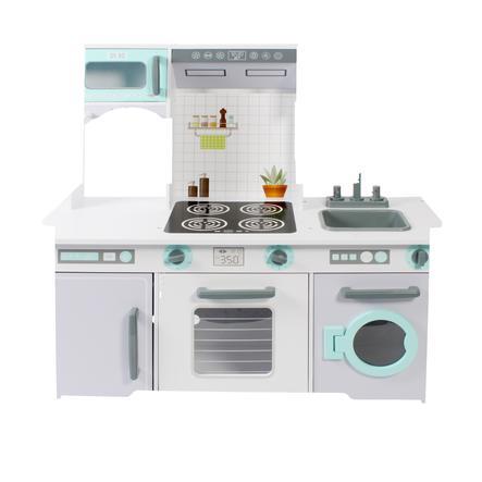 BAYER CHIC 2000 kuchyňka bílá/šedá/mentolová