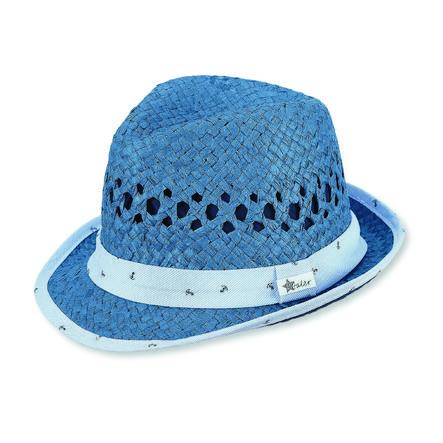 Sterntaler Boys Sombrero de paja jeans azul