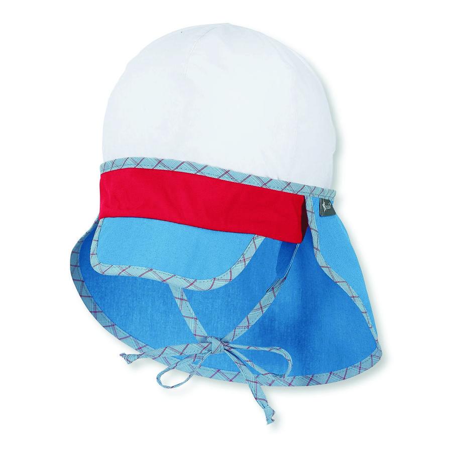 Sterntaler Schirmmütze mit Nackenschutz samtblau