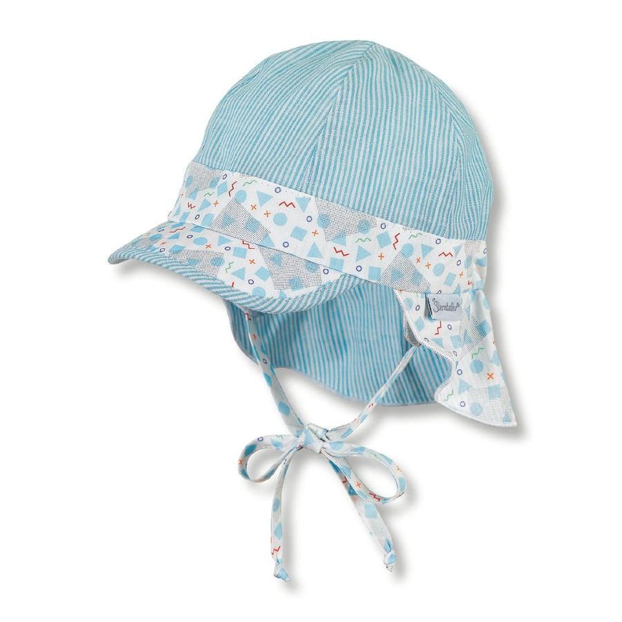 Sterntaler gorra con protector de cuello blanco