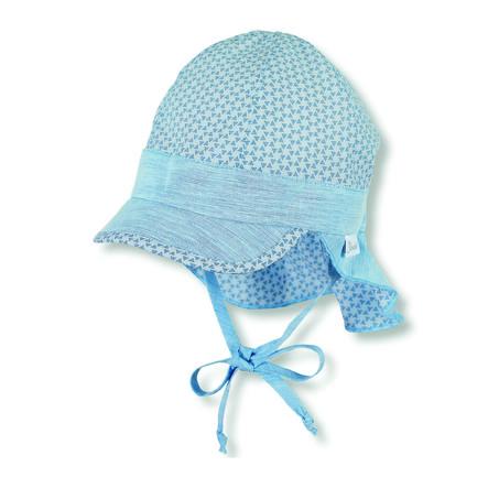 Sterntaler gorra de picos con protección de cuello sky