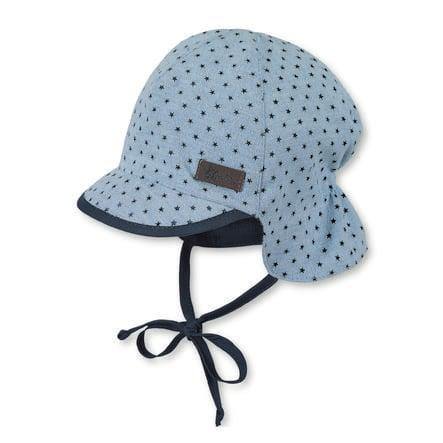 Sterntaler cappello a visiera con protezione del collo cielo