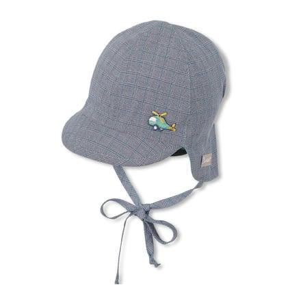Sterntaler casquette réversible à visière avec protège-cou marine