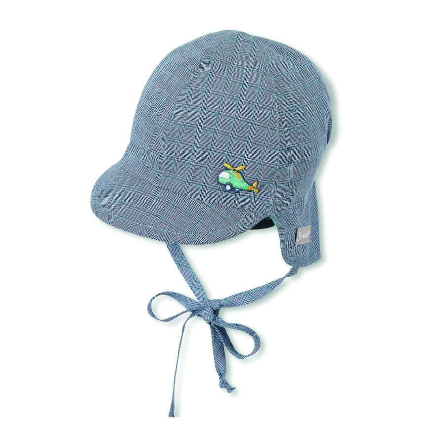 Sterntaler gorra reversible con protección de cuello azul marino