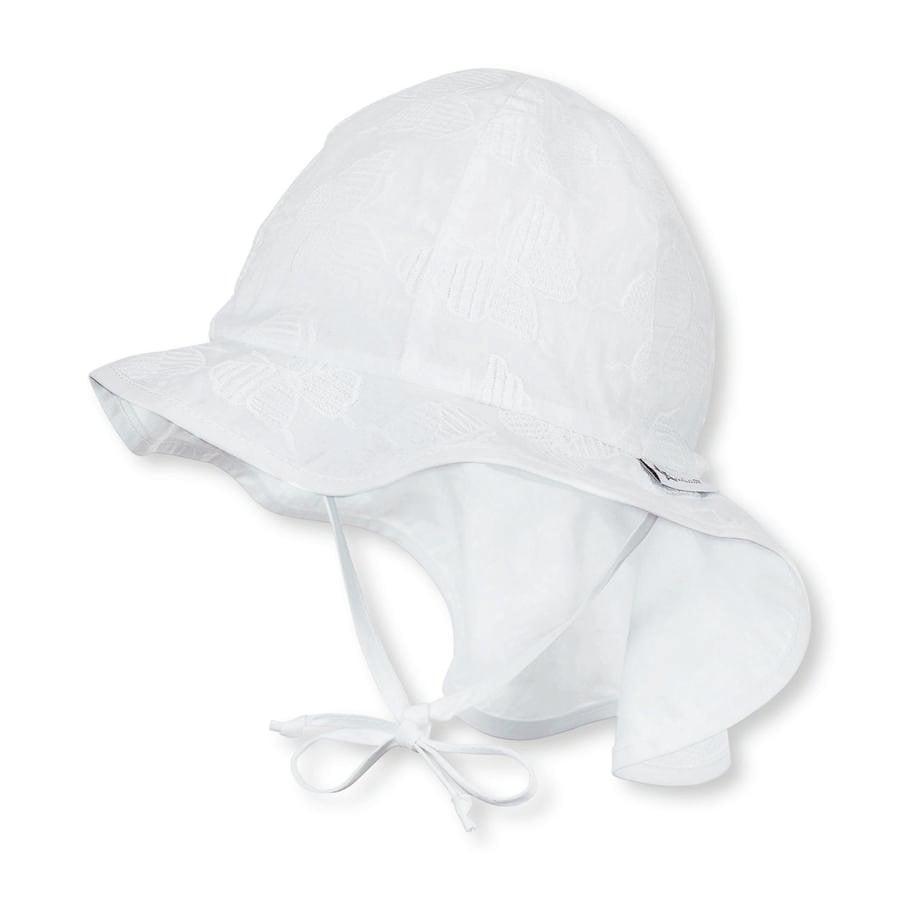 Sterntaler Czapeczka przeciwsłoneczna Flapper Jersey biały