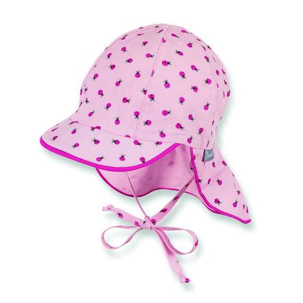 Sterntaler Schirmmütze mit Nackenschutz mandelblüte
