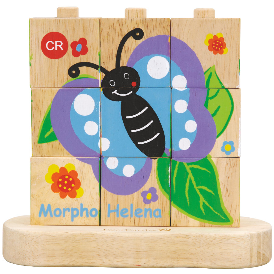 EverEarth Układanie puzzli Od gąsienicy do motyla.