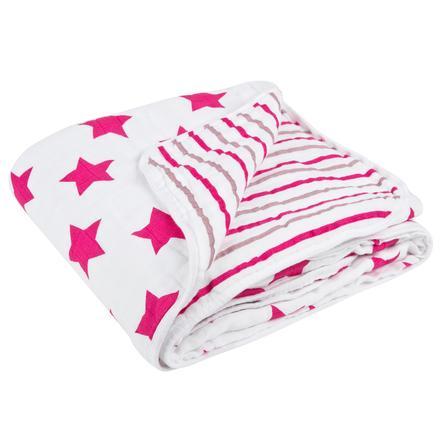 LÄSSIG Deka, Blanket XL Stars & Stripes, pro dívky,  120 x 120 cm