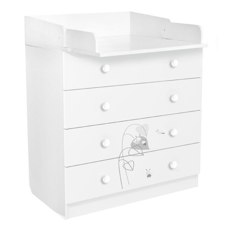 Polini Kids Commode à langer French Amis 1580 blanc